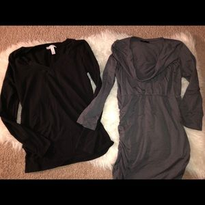 Cowlneck Tunic and Long Sleeve Tee